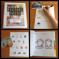 Speechy Musings: Picture This! Community Helpers-Language Worksheets Using Real Pictures. Pinned by SOS Inc. Resources. Follow all our boards at pinterest.com/sostherapy/ for therapy resources.