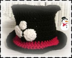 Baby Snowman Hat in crochet Snowman photo prop New by kyoticrafts