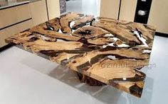 Wood Slab Dining Table, Wood Resin Table, Wooden Tables, Dining Area, Resin Furniture, Furniture Projects, Furniture Design, Furniture Websites, Table Furniture