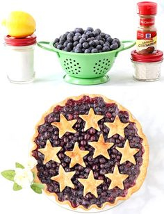4th of July Party Food Desserts - Blueberry Pie!  Your family and friends will LOVE celebrating the day with this EASY homemade pie!  Just a few simple ingredients and you're done!  Go grab the recipe and give it a try! Blueberry Recipes Easy, Homemade Blueberry Pie, Blueberry Dump Cakes, Easy Pie Recipes, Homemade Pie, Fruit Recipes, Baking Recipes, Easy Summer Desserts, Summer Dessert Recipes