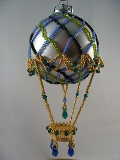 beaded hot air balloon pattern | Hot Air BalloonBeaded Christmas Ornament by ChristmasCreation