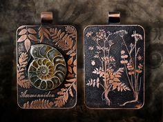 Ammonite and copper.