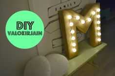 Santun Maja: DIY lightsign, made from cardboard box