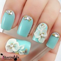 Check out the incredibly unique nail art designs that are inspiring the hottest nail art trends. 3d Acrylic Nails, 3d Nails, Matte Nails, 3d Nail Art, 3d Nail Designs, Simple Nail Designs, Acrylic Nail Designs, Luxury Nails, Flower Nails