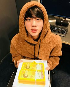 (Jimin surprise jin and gifted a pluffy jacket) Jimin:ware it hyung Jin: ok. Jimin: Is it warm? Jin: its warm as your heart birthday