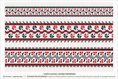 Semne Cusute: romanian traditional motifs - MOLDOVA - Iasi, Targ... Embroidery Sampler, Folk Embroidery, Cross Stitch Designs, Stitch Patterns, Moldova, Beading Patterns, Pixel Art, Traditional, 1 Decembrie