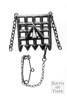 Presented to all suffragettes after imprisonment, the design was based on the portcullis symbol of the House of Commons, the arrow convict symbol is enamelled in the purple, white and green colours of the suffragettes. Green And Purple, Green Colors, Colours, Sylvia Pankhurst, Suffragette Jewellery, Special Interest Groups, Suffragettes, Feminist Icons, House Of Commons