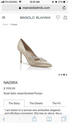 343e005e436ec Manolo Blahnik Blue Satin Nadira Jewel 90 Pumps - Farfetch | shoes ...