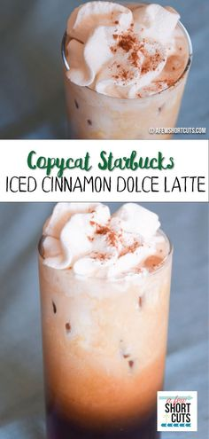 Save your dollars, and make this Copycat Starbucks Iced Cinnamon Dolce Latte Recipe at home with your keurig! Trust me, you won't miss those big prices or long lines.