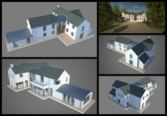 New build of traditional country home with a contemporary twist. Drawing information production, tender & construction packages together with visualisations. Two Storey House Plans, 2 Storey House Design, Small House Design, Farmhouse Renovation, Modern Farmhouse Exterior, L Shaped House Plans, House Designs Ireland, Dream House Exterior, Architect House