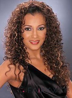 Long Curly Human Hair Wigs for Women : www.fairywigs.com
