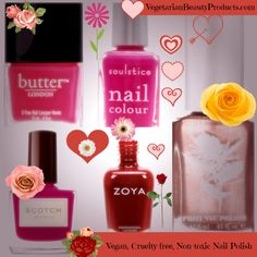 5 Top Vegan, Cruelty and Chemical Free Valentine's Day Nail Polish Choices | Vegetarian Beauty Products