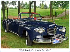 When I was a youngster there was one of these beauties in our neighborhood and I would just stand and stare at it as it drove past.  1942 Lincoln Continental Cabriolet.