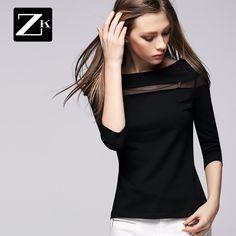 Noutăți pe primăvară ZK2015 nou grund strat de primăvară cămașă guler femei și de toamnă punctul de navetiști simplu tricou maree