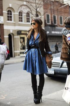 love dresses over leggings or skinny jeans