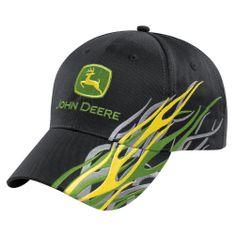John Deere Logo Flame Graphic Cap