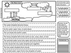 FREE Water Cycle Diagram ~ Cut and Paste Activity.You will need students to cut and paste onto a larger piece of construction paper. See directions on this product. ENJOY!Check out our Summer Giveaway at ~www.kennedyskornerblog.blogspot.com Thanks for visiting our store ~ Kennedy's Korner