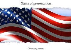 Blue lines powerpoint template templates pinterest template american flag powerpoint template toneelgroepblik Image collections