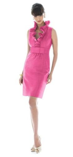 bachelorette party attire:: pink alfred sung frock