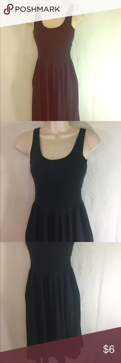 Little Black Sundress-M/L A basic but flattering and comfortable black cotton sundress in a size M/L. It can be worn anywhere whether running errands, over a swimsuit to the beach or out with a cute pair of wedges. A staple summer item! Dresses Midi