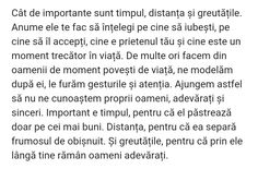 Pe cine iubesti.... Tomorrow Forever, True Words, Beautiful Words, You Changed, Inspirational Quotes, Facts, Humor, God, Tattoo