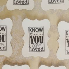 DO YOU? ...know that YOU ARE LOVED!  via LOVED by design Instagram