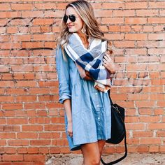 Peter Pan Collar Dolly Dress in Chambray - Retro, Indie and Unique Fashion