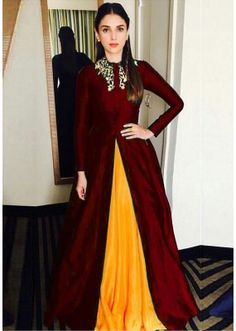 Bollywood Replica - Aditi Rao Hydari Fancy Maroon Gown24CA108-11020C