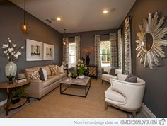 20 Gorgeous Living Room Furniture Arrangements - #smalllivingroom #grayroom #whitefurniture