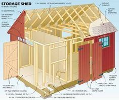 Popular mechanics plans for a 10 x 16 garden (workshop for me) shed in a pretty colonial style. #ColonialWoodworkingTools