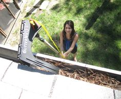 """HATE cleaning gutters? No Ladder--No Problem.  Make a tough job easier and much Safer--No ladder needed!. Wet or dry, GutterWhiz removes leaves, pine needles, pine cones, toys and balls. Limited Lifetime Warranty and FREE Safety Glasses.  Also see our specially designed GutterWhiz 6 ft. to 12 ft. extension pole for all 1 to 1-1/2 story gutters (about 15 ft.)  Buy on Amazon.  Enter """"GutterWhiz"""" in search box."""