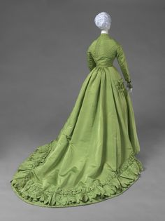 c.1866-67 Worth Dress with Day and Evening Bodices, silk faille & silk tulle, Philadelphia Museum of Art