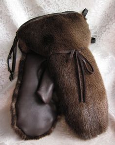 Alaskan Real Fur Mittens for Men made of Land and by CRubyDesigns, $525.00