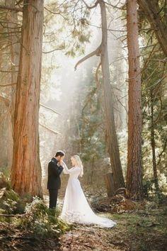 Como nos contos de fadas: casamento na floresta! <3