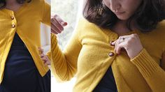 Cardigan Conversion. Great idea! Take your sweaters that don't fit quite right and convert them to cardigans