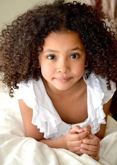 This is a beautiful child of an interracial couple