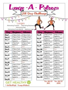 If you want lean, strong legs, our 28-Day Lunge-A-Palooza Challenge is the perfect opportunity for you to get them!