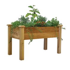 Gronomics Rustic Red Cedar Raised Planter Box Regb 2448