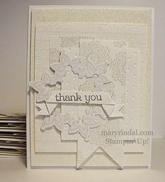 White on White - Winter Sparkle Card - Festive Flurry {scrap and stamp with mary}: