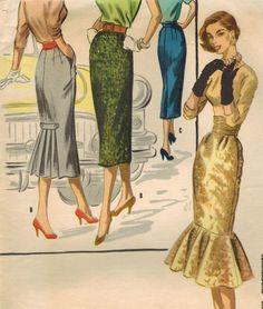 1959. Vestidos de tarde