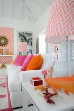 pink and orange room decor  #pink #purple #tangerine #sweetlove #colorful #weddinginvitations #letterpress #retro #candycolored #abbeymalcolmpress #abbeymalcolmletterpressanddesign www.abbeymalcolmpress.com