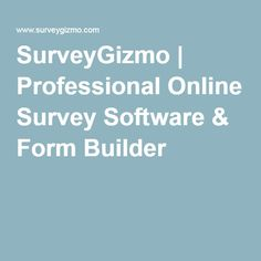 SurveyGizmo   Professional Online Survey Software & Form Builder