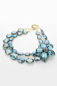Crystal Amria Necklace in Sapphire and Blue Agate