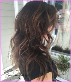 cool Black hair with caramel highlights pictures