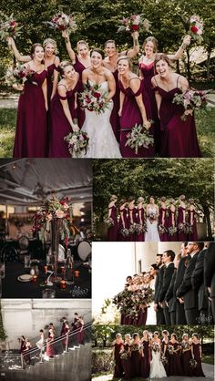 modest colder shoulder burgundy long bridesmaid dresses, country a line chiffon wedding party dress for bridesmaids #burgundy #bridesmaids #weddingdress