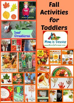 Fall Activities for Toddlers: Leaves and Pumpkins make great props for fall activities for toddlers. Make leaf prints. Do pumpkin math. Make collages.