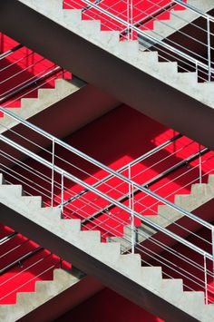 crimson + grey--plaid staircase