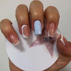 Fruit Nail Designs, Gel Nail Art Designs, Wow Nails, Cute Toe Nails, Cinderella Nails, Diy Acrylic Nails, Bride Nails, Coffin Shape Nails, Crystal Nails
