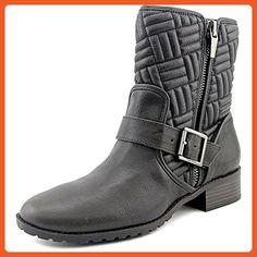 Calvin Klein Women's Rauline Black/Gold Bootie 10 M (7.5, Expresso) - Boots for women (*Amazon Partner-Link)