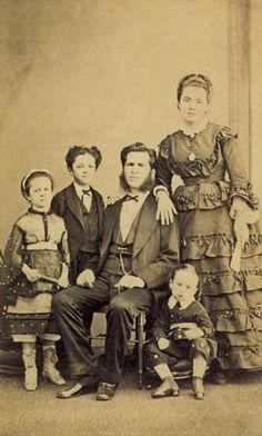 Família desconhecida, 1870.